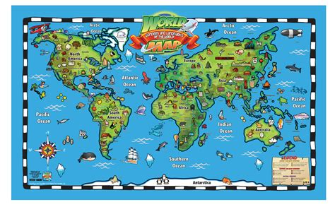 map of with landmarks education essentials popar toys of the world