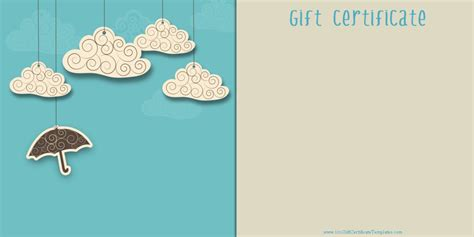 gift card template printable gift certificate templates