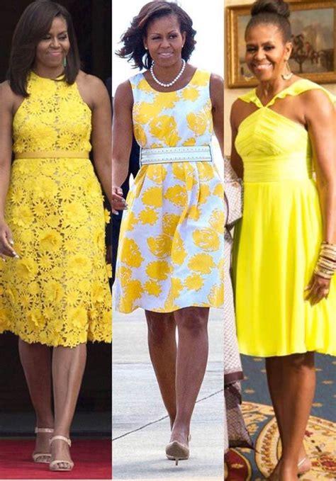 michelle obama yellow michelle obama yellow dress on pinterest michelle obama
