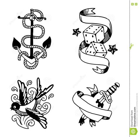 how to create a classic tattoo style vector illustration vintage vector illustration stock vector