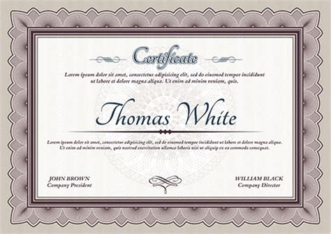 graduation certificate template graduation certificate templates creativetemplate