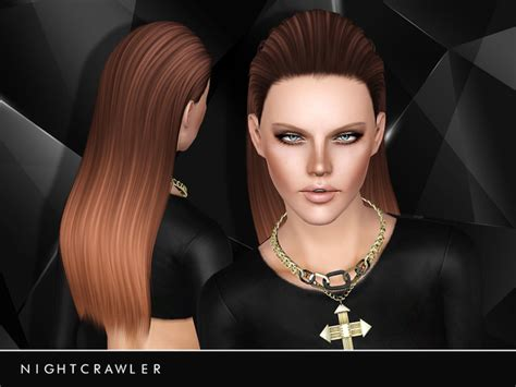 my sims 4 blog half back accessory hair bow by half slicked back hairstyle 19 by nightcrawler sims 3 hairs