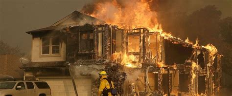 California Fires Drive From Homes To Hotels by Wildfires Tear Through California 10 Dead Thousands