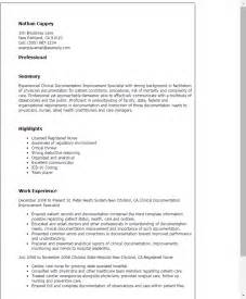 Resume Template Document by Professional Clinical Documentation Improvement Specialist