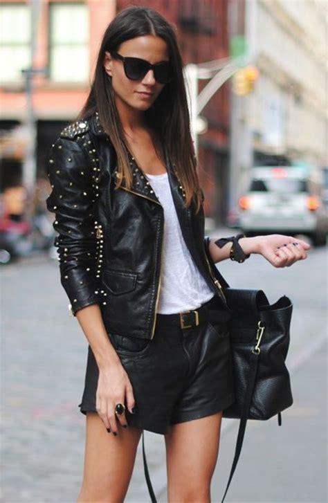 Leather Styles how to wear black leather jacket this fab fashion fix
