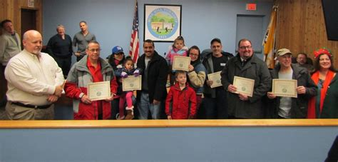 festival of lights nj mine hill township council presents awards to festival of