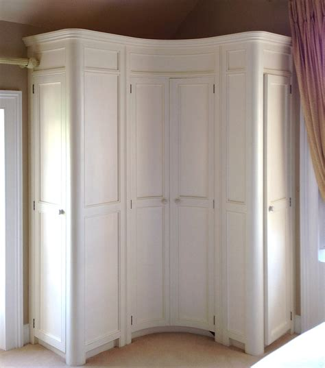 corner bedroom cupboard curved fitted corner wardrobe hand painted in a cream www