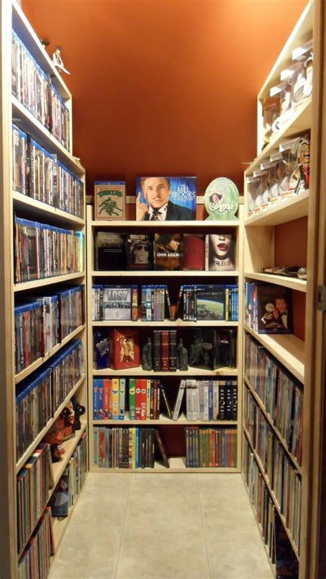 hack storage movie dvd storage closet i want one of these in my dream house