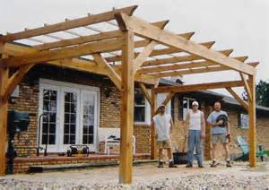Build A Retractable Awning Timber Frame Pergolas Timber Frame Porches Amp Pavilions