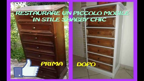 fare un mobile restaurare un piccolo mobile in stile shabby chic