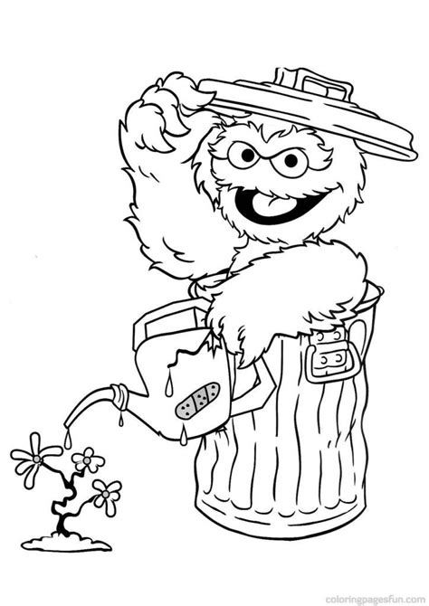 sesame street count coloring pages coloring home
