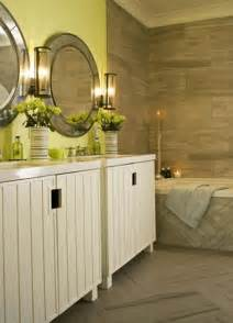 Wall paint modern bathroom decorating ideas with green paint colors