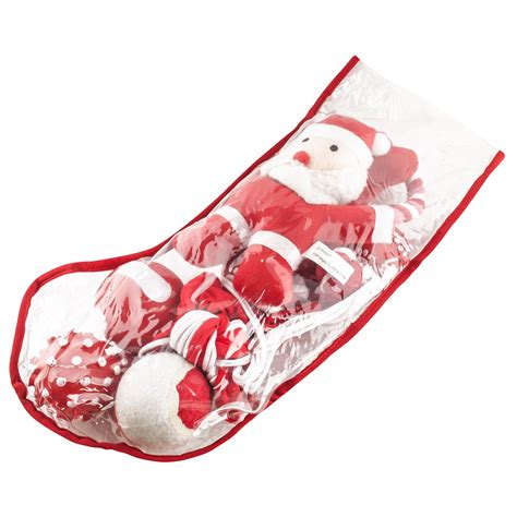 filled christmas stockings pet puppy squeaky play toys