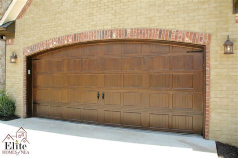 Garage Door Painted To Look Like Wood Fabulous Facades Garage Door Wood Look