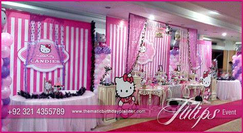 rose theme kitty party hello kitty themed party tulips event management