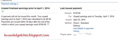 adsense payment date april 2014