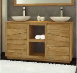 meuble de salle de bain teck massif groovy mobilier de