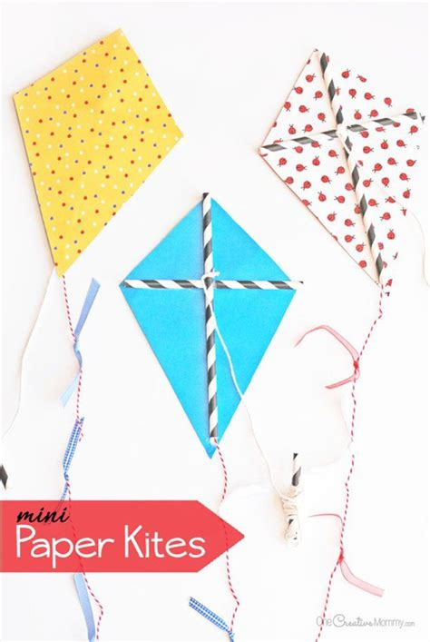 How To Make A Kite With Paper And Straws - diy kite ideas kites activities and minis