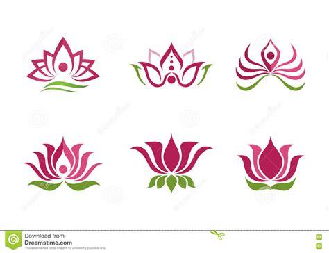fiore loto stilizzato fondo stilizzato di vettore dell icona fiore di loto