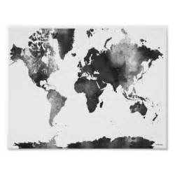 world map black and white poster zazzle