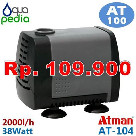 Pompa Aquarium Atman jual atman at 104 pompa celup aquarium kolam submersible