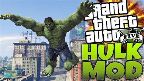 mod gta 5 ps3 hulk amazing hulk mod gta 5 mods pc showcase hd youtube