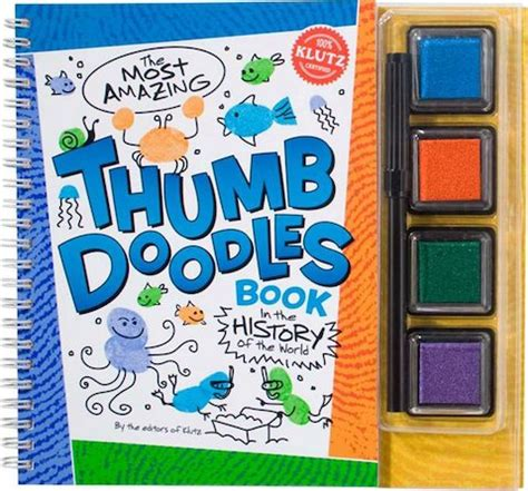 thumb doodles klutz thumb doodles scholastic shop