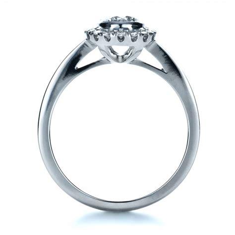 custom bezel engagement ring 1229