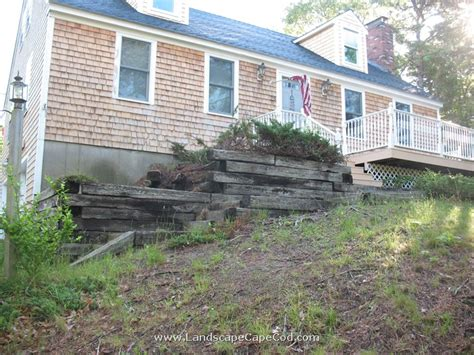 Landscape Timbers Cape Cod Retaining Wall Demolition