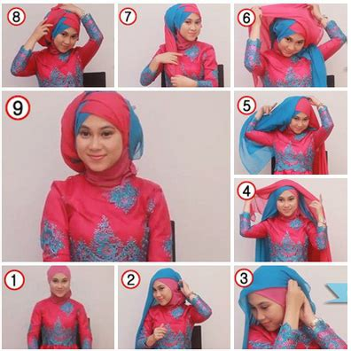 tutorial hijab pesta untuk berkacamata 15 tutorial hijab segi empat dua warna untuk pesta terbaru