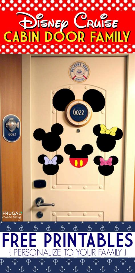free disney cruise door printables