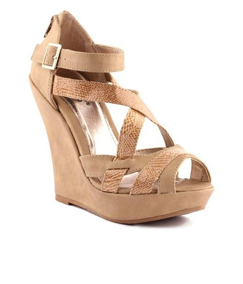 light brown wedge heels 23 bacio light brown wedge heel sandals price in india