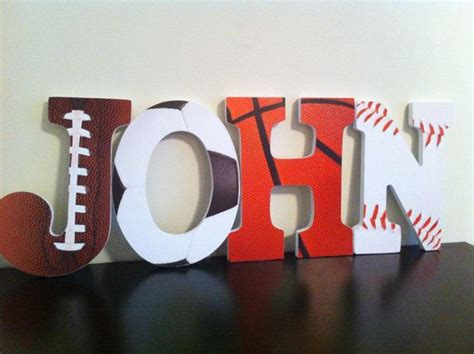 sports wooden letters nursery letters wall by