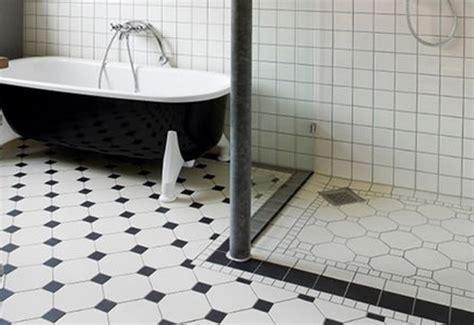 black and white tile floor decorating