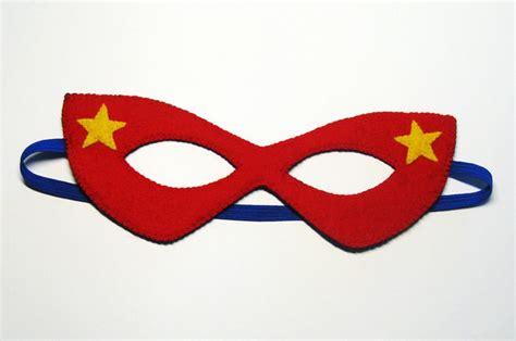 pattern for felt superhero mask pdf pattern reversible super hero felt mask red blue