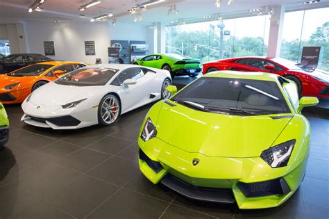 lamborghini dealership inside walk through tour portfolio business view for