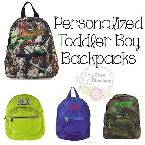 toddler boy backpacks personalized school bag by tinyroseboutique
