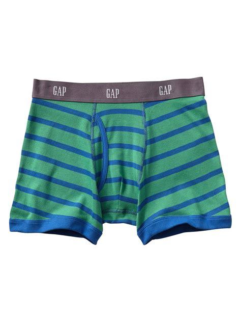 Brief Boxer Gap Size M gap contrast stripe boxer briefs in green for