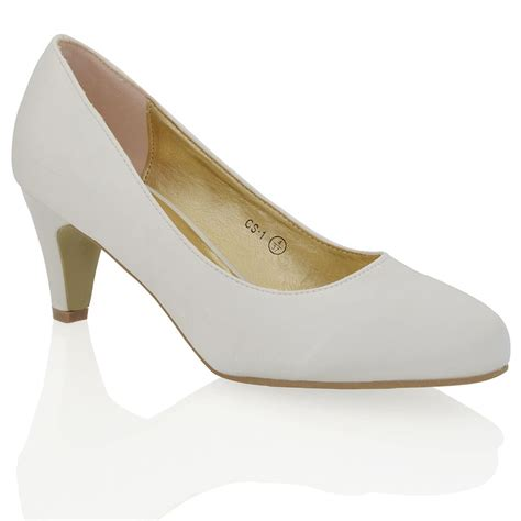 womens low heel satin bridal evening slip on