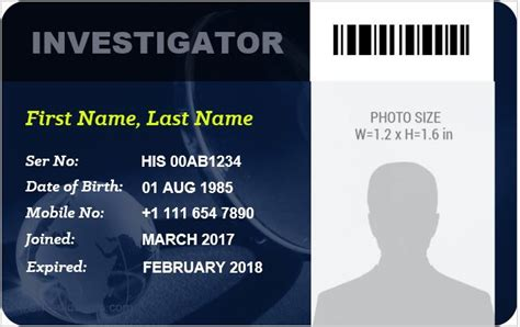 detective id card template 5 best investigator id card templates ms word microsoft