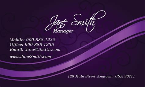 purple business card template free purple spa salon business card design 601171