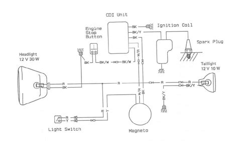 headlight wiring diagram motorcycle 35 wiring diagram