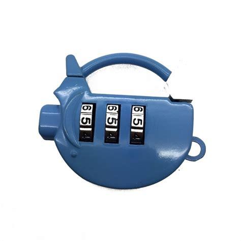 tokuniku gembok koper kecil mini kombinasi angka 3 digit coded luggage padlock bentuk tas