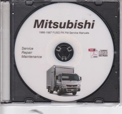 old car owners manuals 1987 mitsubishi truck head up display 1986 1987 mitsubishi fuso fk fm 6d14 6d14t truck service manual cd rom