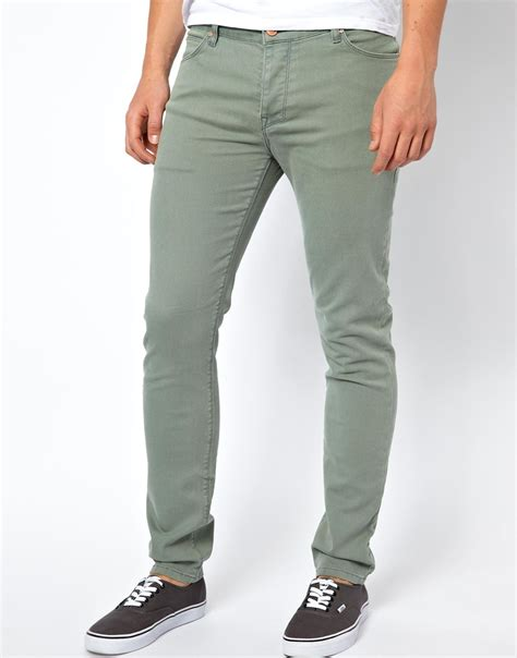 Mens Green Jeans Bbg Clothing