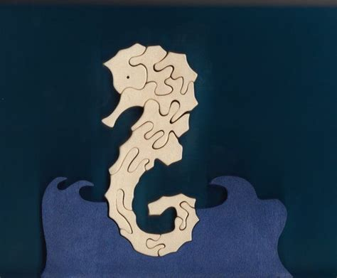 seahorse wood puzzle cut on scroll saw duke s scroll saw