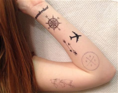 airplane tattoo etsy