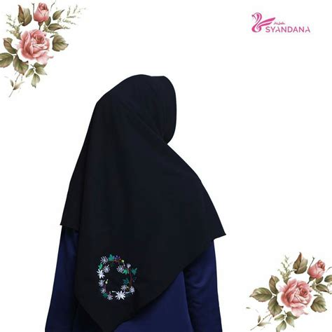 Segi Empat Motif 12 jual jilbab segi empat bordir 12 syandana