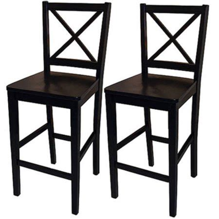 Bar Stools Walmart by Virginia Cross Back Counter Stools 24 Quot Set Of 2 Black