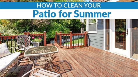 How To Clean Patio by How To Clean Your Patio For Summer